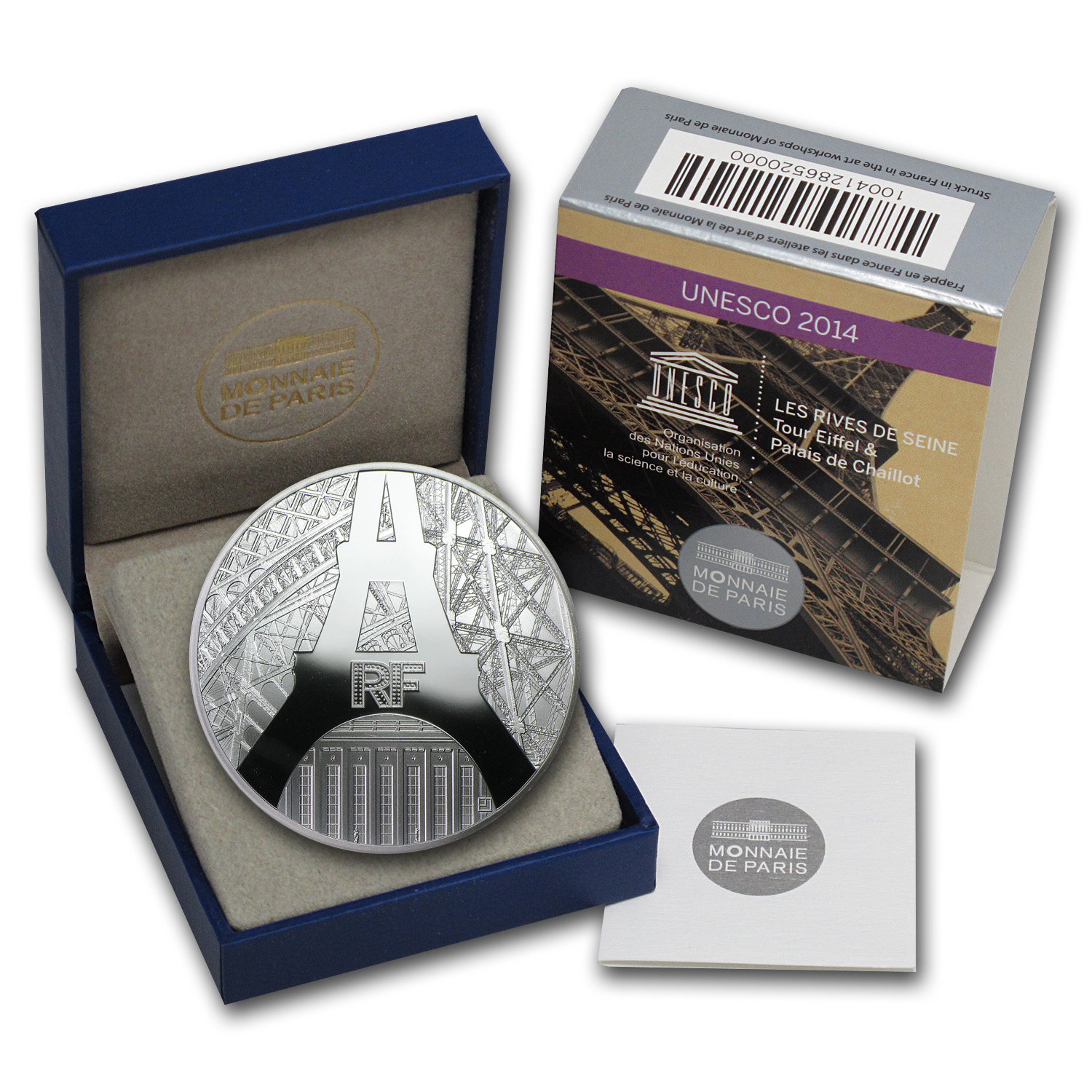 2014 Silver France €10 The Eiffel Tower & The Palais de Chaillot