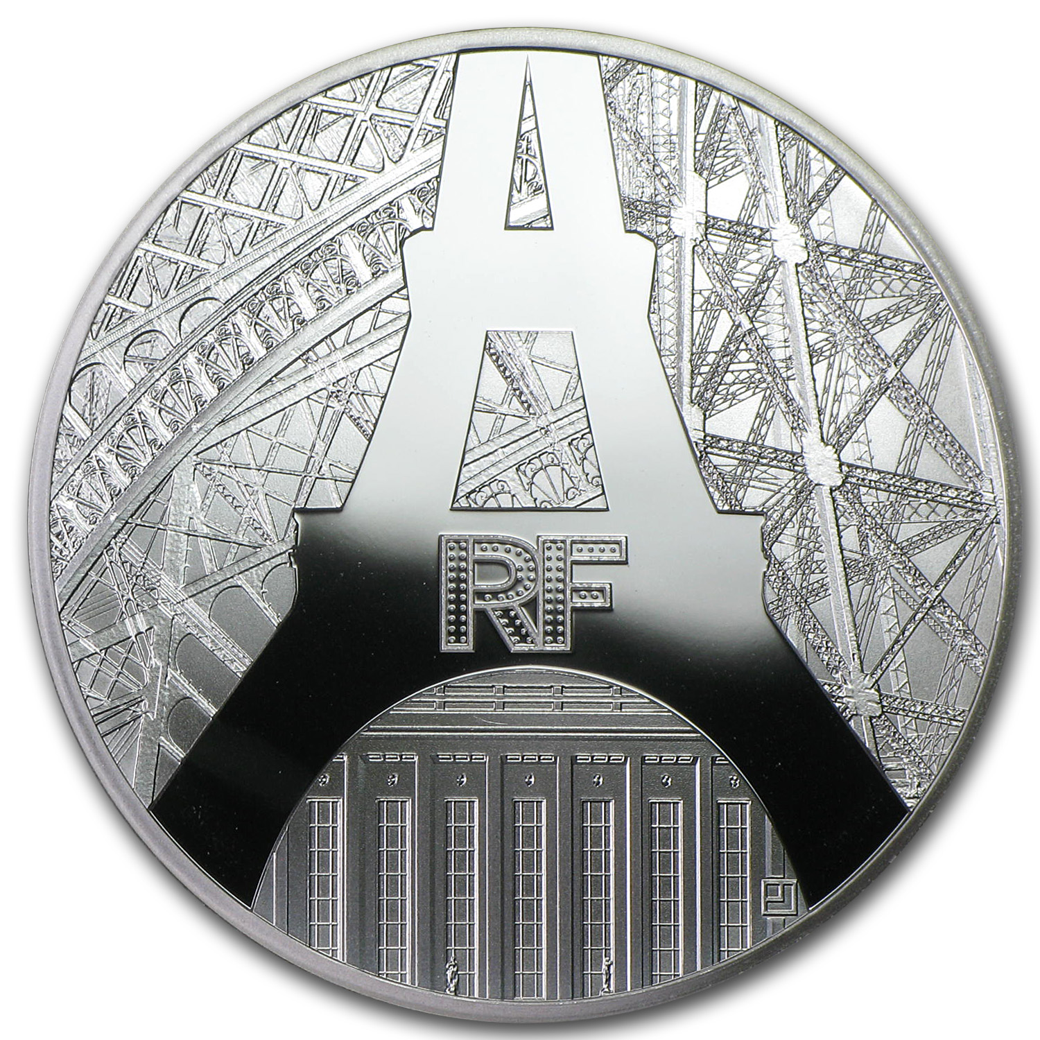 2014 Silver €10 Eiffel Tower & Palais de Chaillot Proof