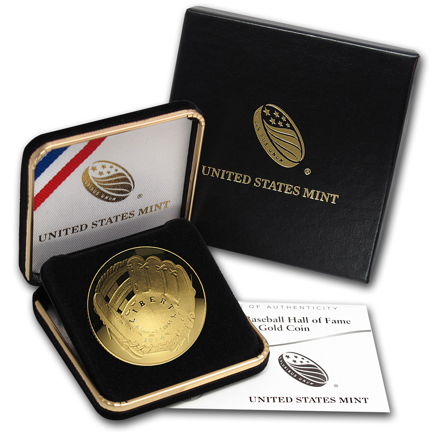 2014-W Gold $5 Commem Baseball HOF Proof (w/box & COA)
