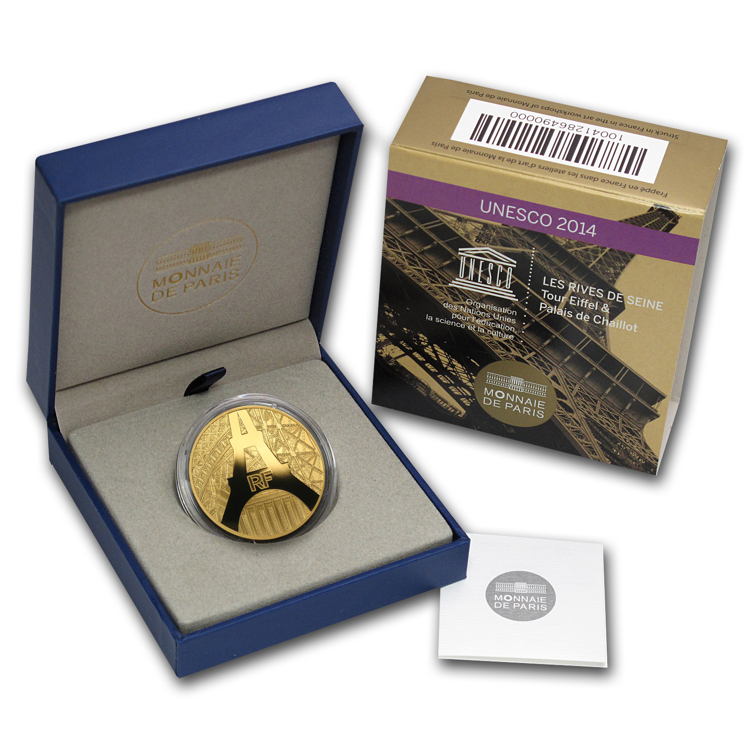 2014 1 oz Gold Proof The Eiffel Tower and The Palais de Chaillot