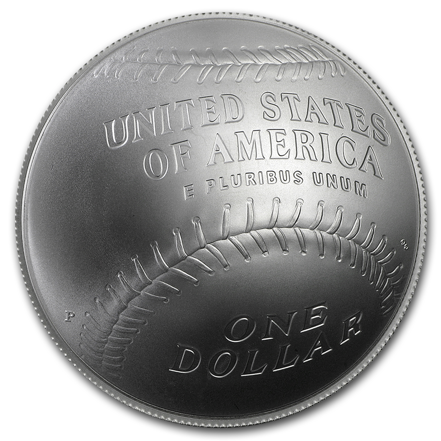 2014-P Baseball HOF - $1 Silver Commem -Uncirculated w/ Box & COA
