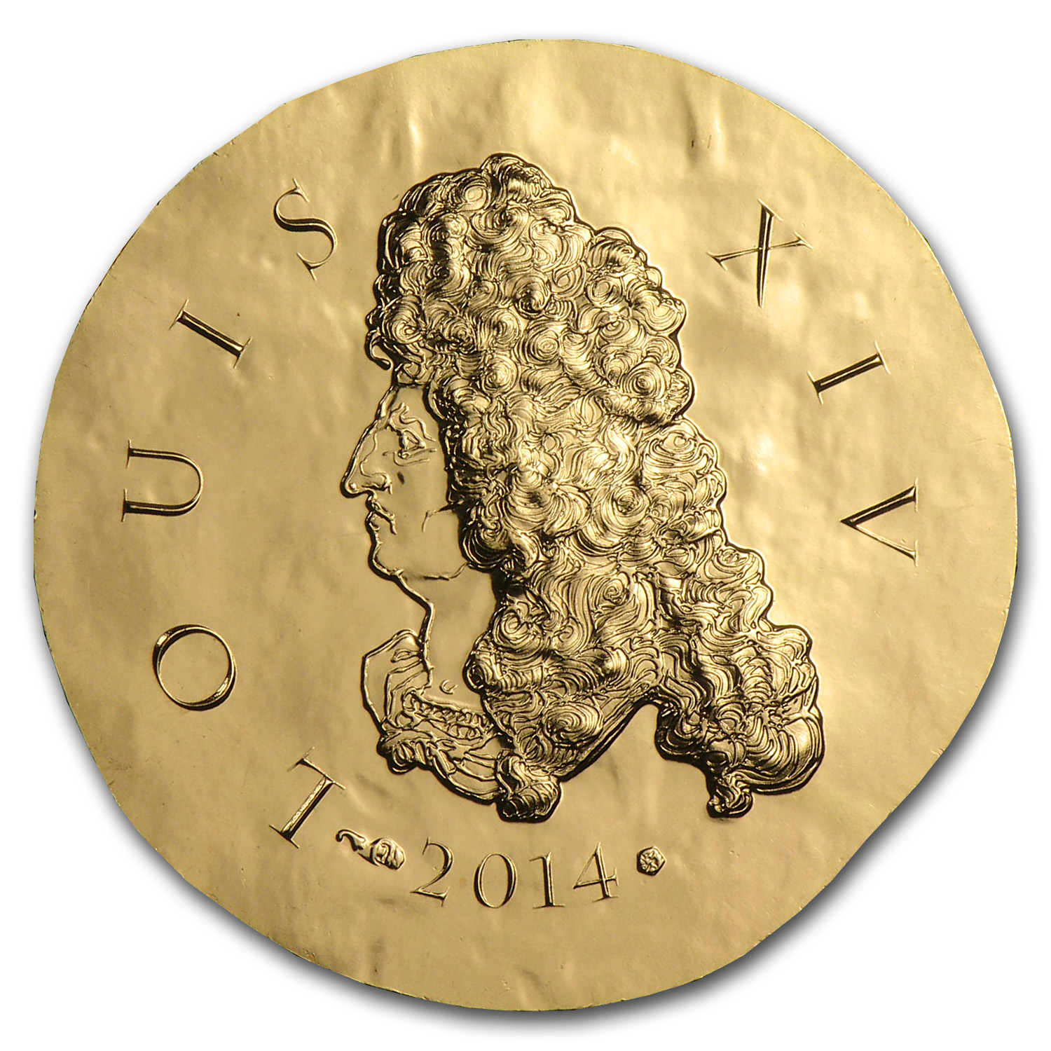 2014 1/4 oz Proof Gold €50 Legendary Collection Louis XIV