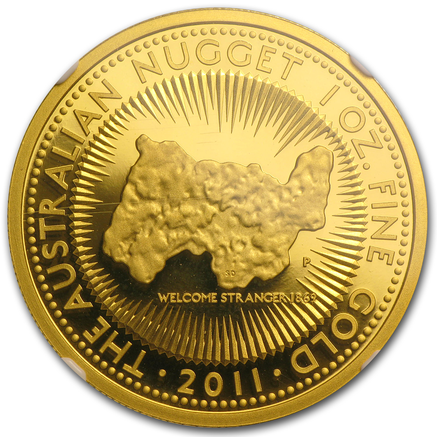 2011 1 oz Australian Proof Gold Nugget 25th Anniv. PF-69 NGC