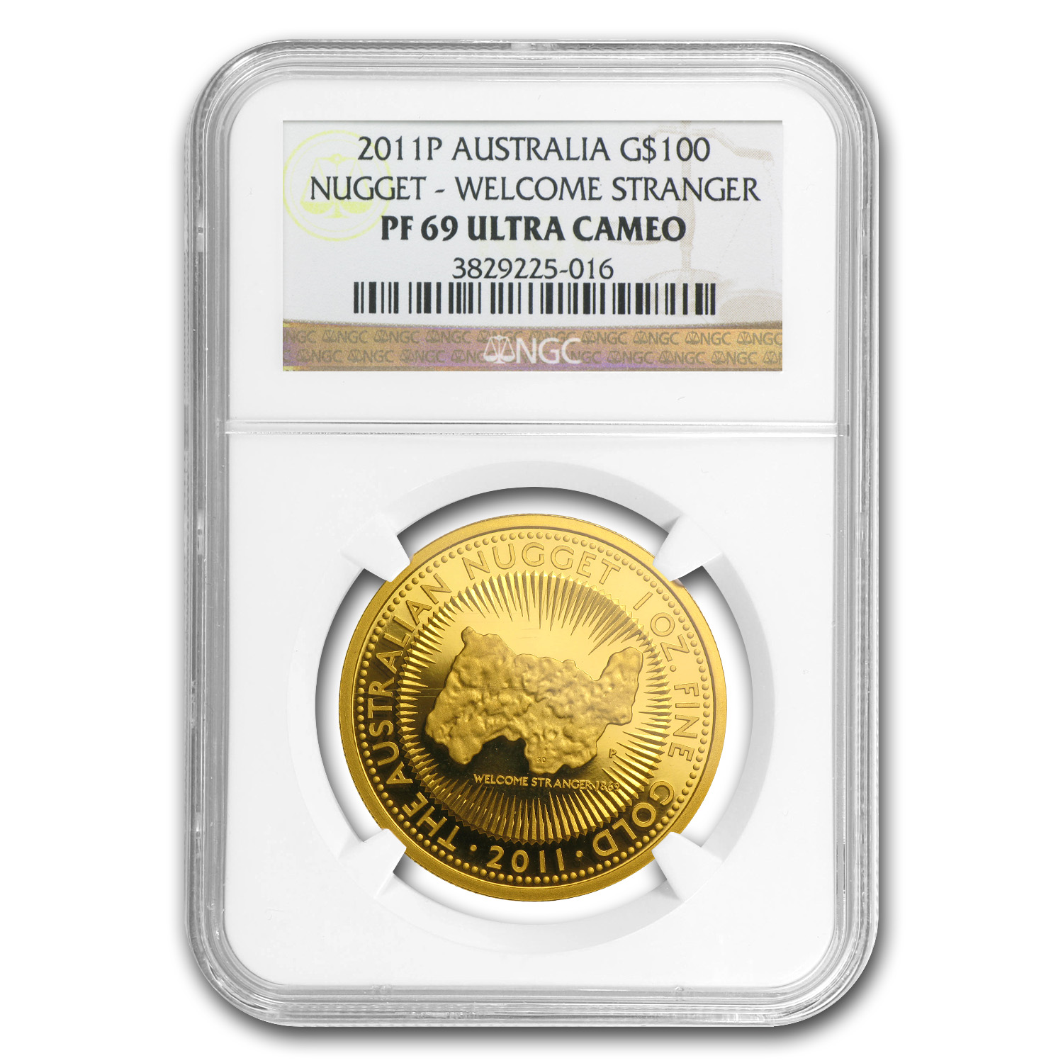 2011 Australia 1 oz Gold Nugget PF-69 NGC (25th Anniv)