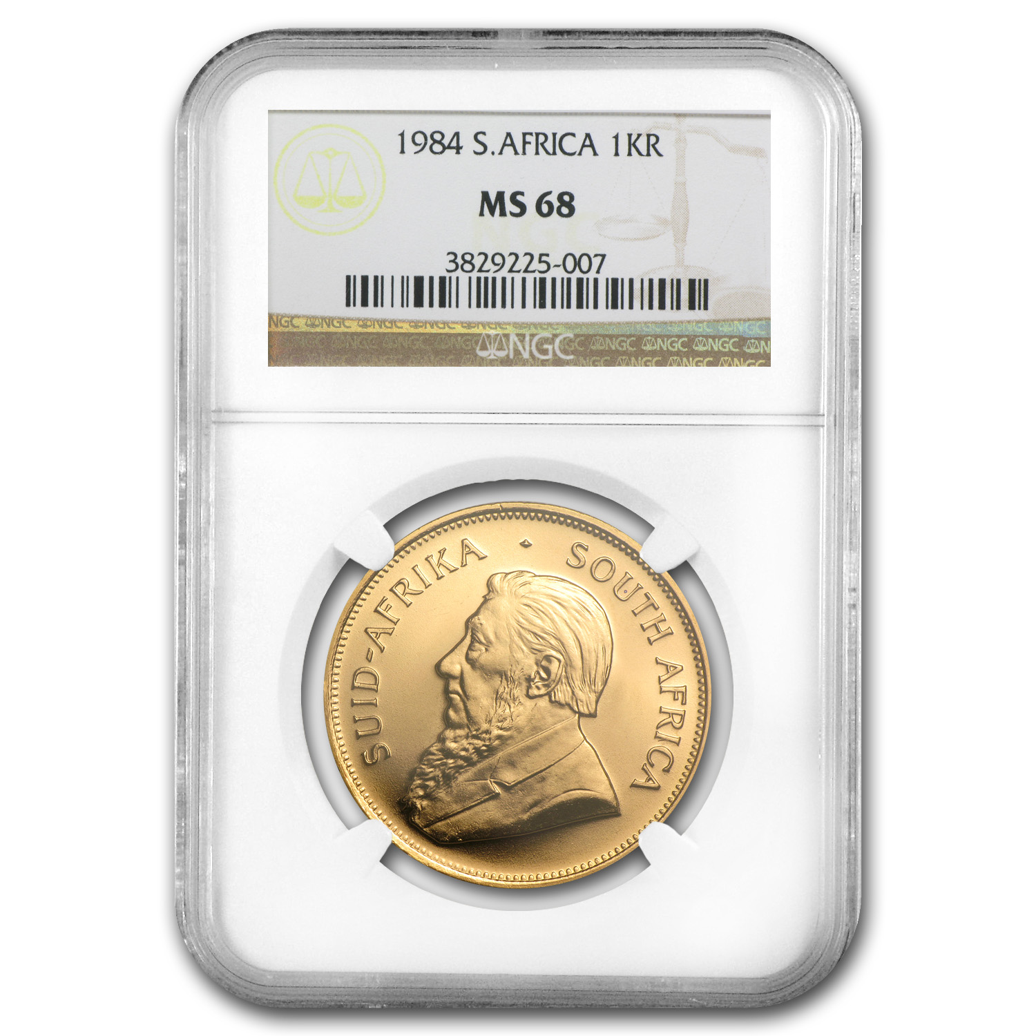 1984 South Africa 1 oz Gold Krugerrand MS-68 NGC