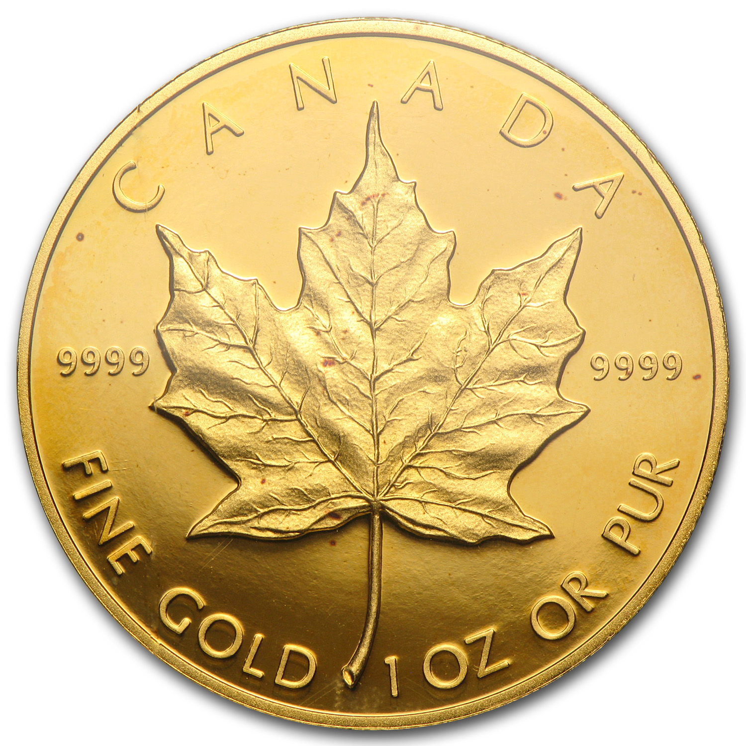 1989 1 oz Proof Gold Canadian Maple Leaf PR-68 PCGS