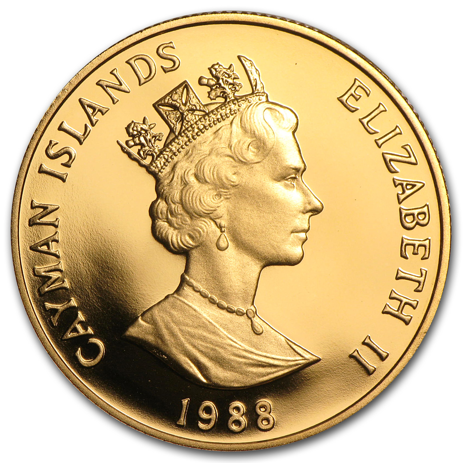 1988 Cayman Islands Proof Gold 100 Dollars Columbus
