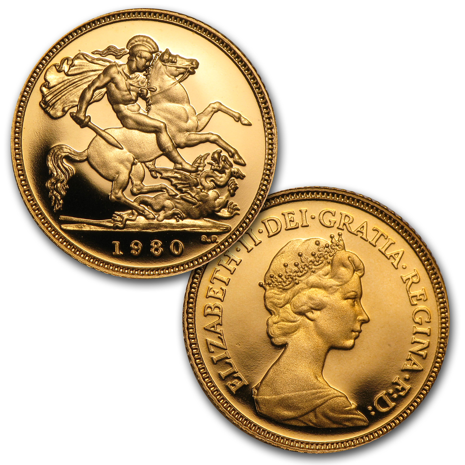 1980-1986 Great Britain 6-Coin Gold 1/2 Sovereign Proof Set