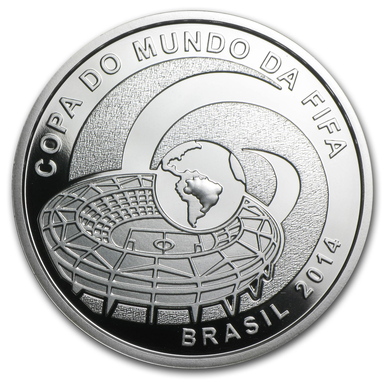 Brazil 2014 Silver Proof FIFA World Cup Brazil™ - Stadium