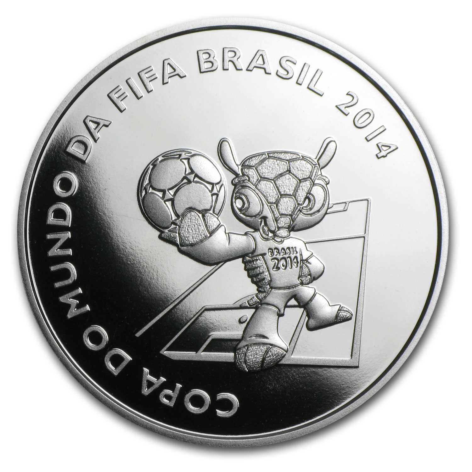 2014 Brazil Silver FIFA World Cup Brazil™ Mascot Proof