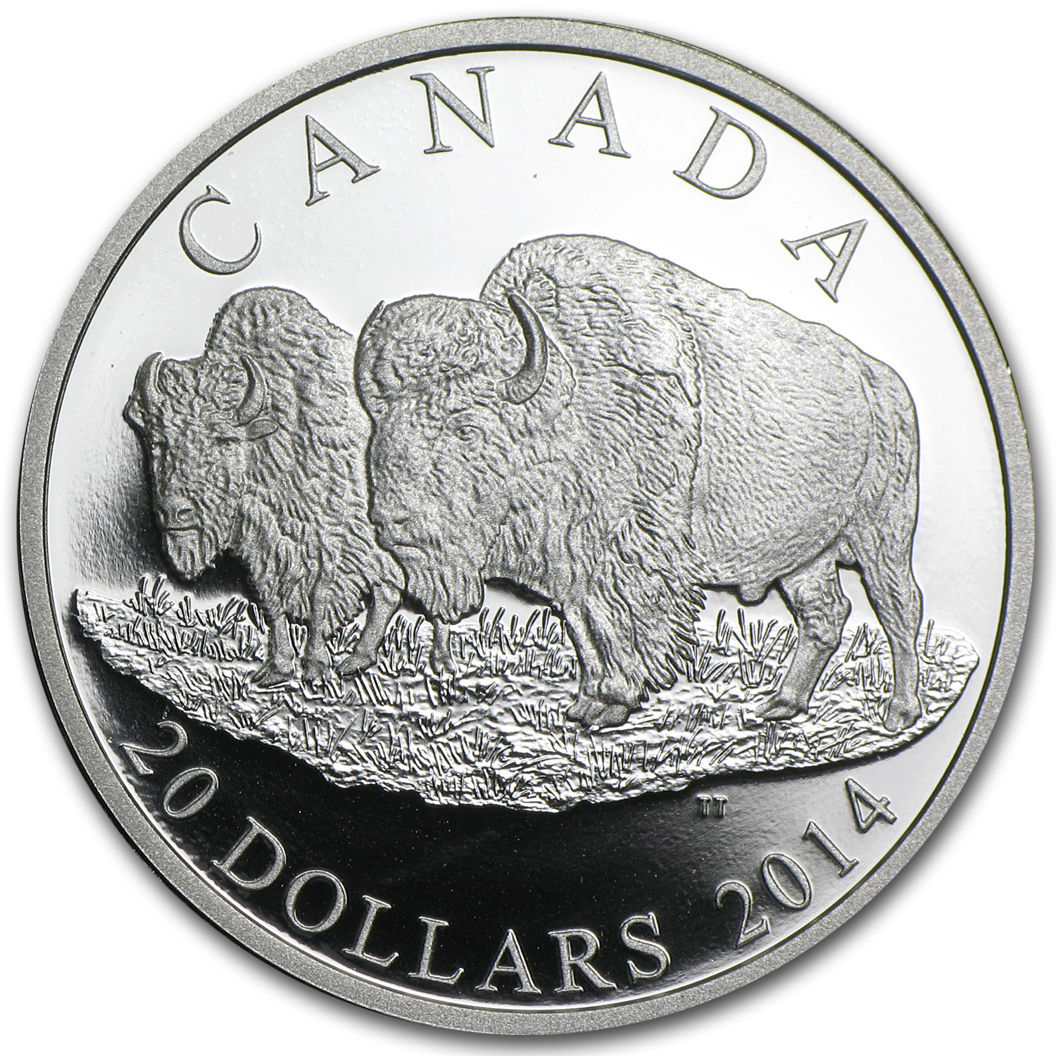 2014 Canadian 1 oz Proof Silver Bison - The Bull and His Mate