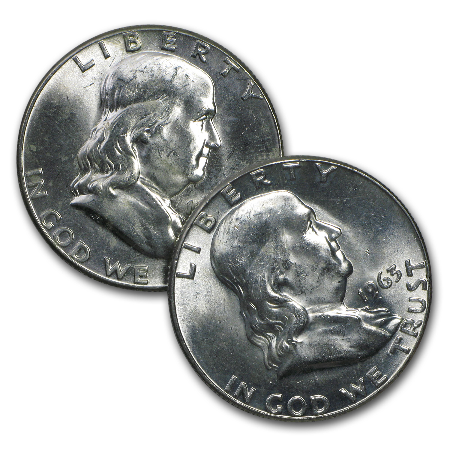 $1.00 Face Value Franklin Halves BU