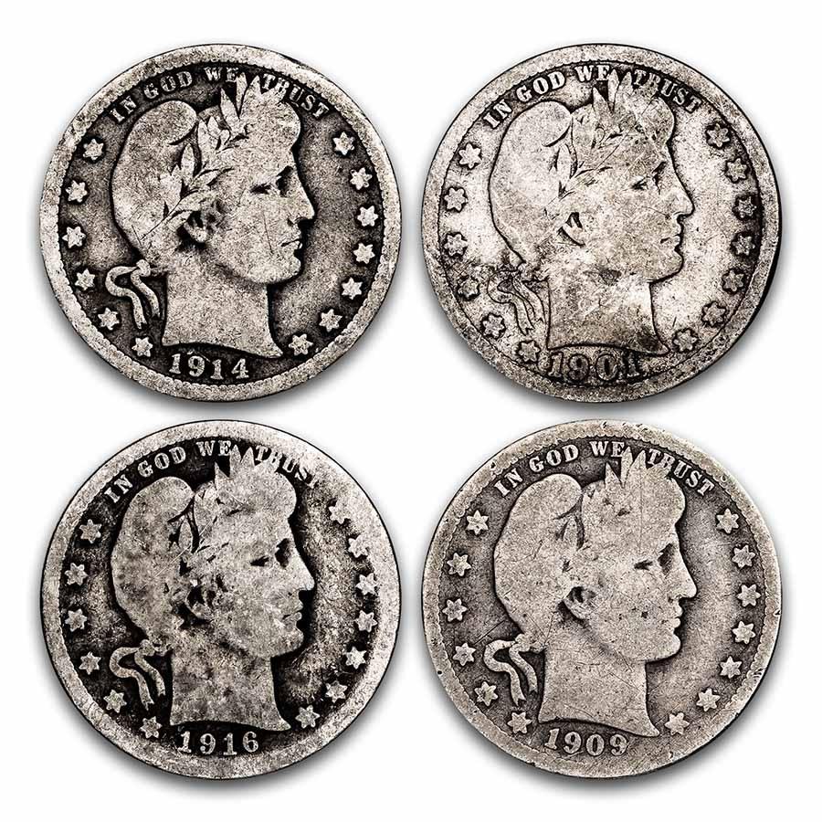 Value Barber Quarters Barber Quarters (1892 -1916) (Silver Coins ...
