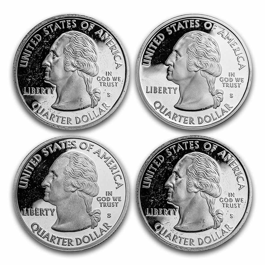 $1.00 Face Value Silver Statehood/ATB Quarters Proof