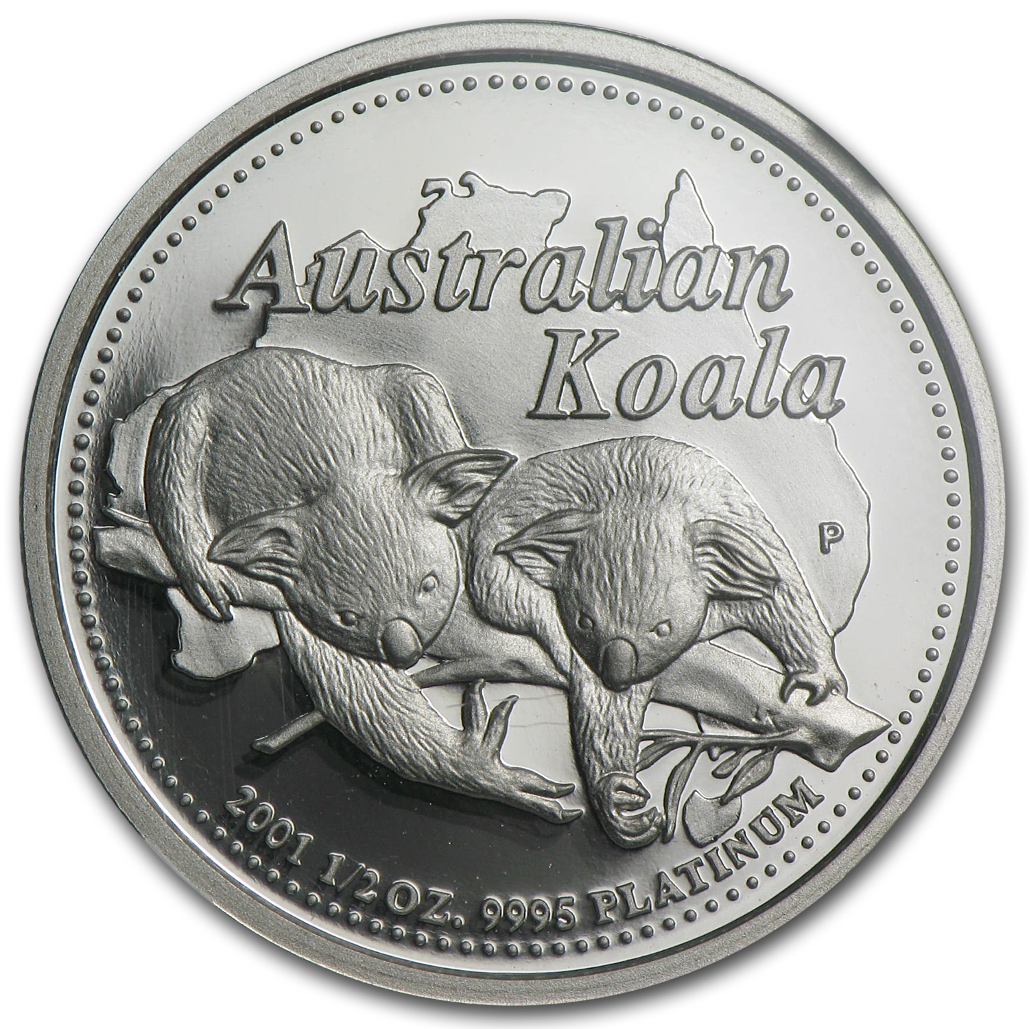 2001 Australia 1/2 oz Proof Platinum Koala PF-70 NGC