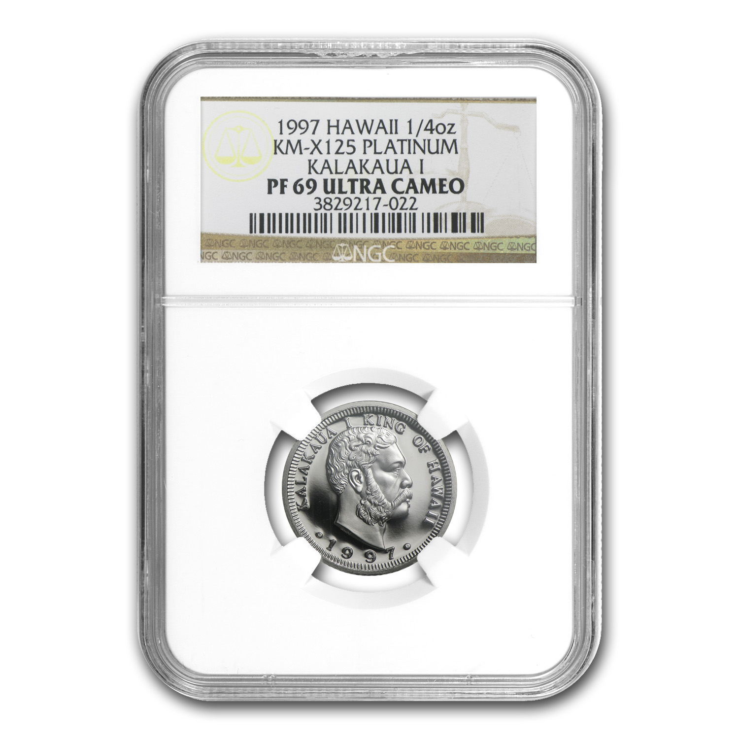 1997 1/4 oz Proof Platinum Hawaiian King PF-69 NGC