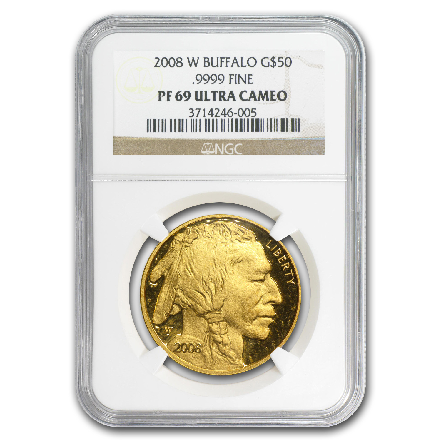 2008-W 4-Coin Gold Buffalo Set PF-69 UCAM NGC