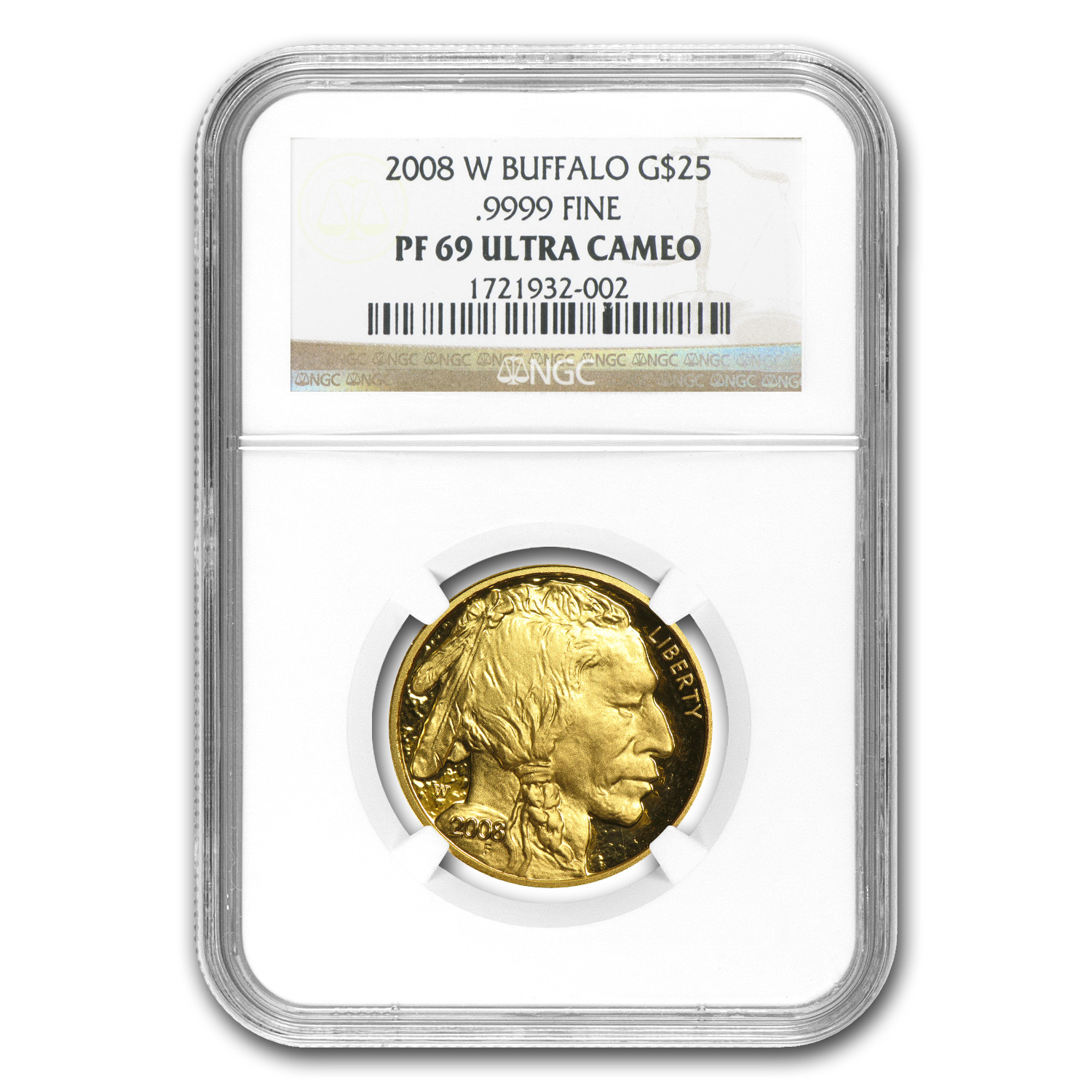 2008-W 4-Coin Proof Gold Buffalo Set PF-69 NGC