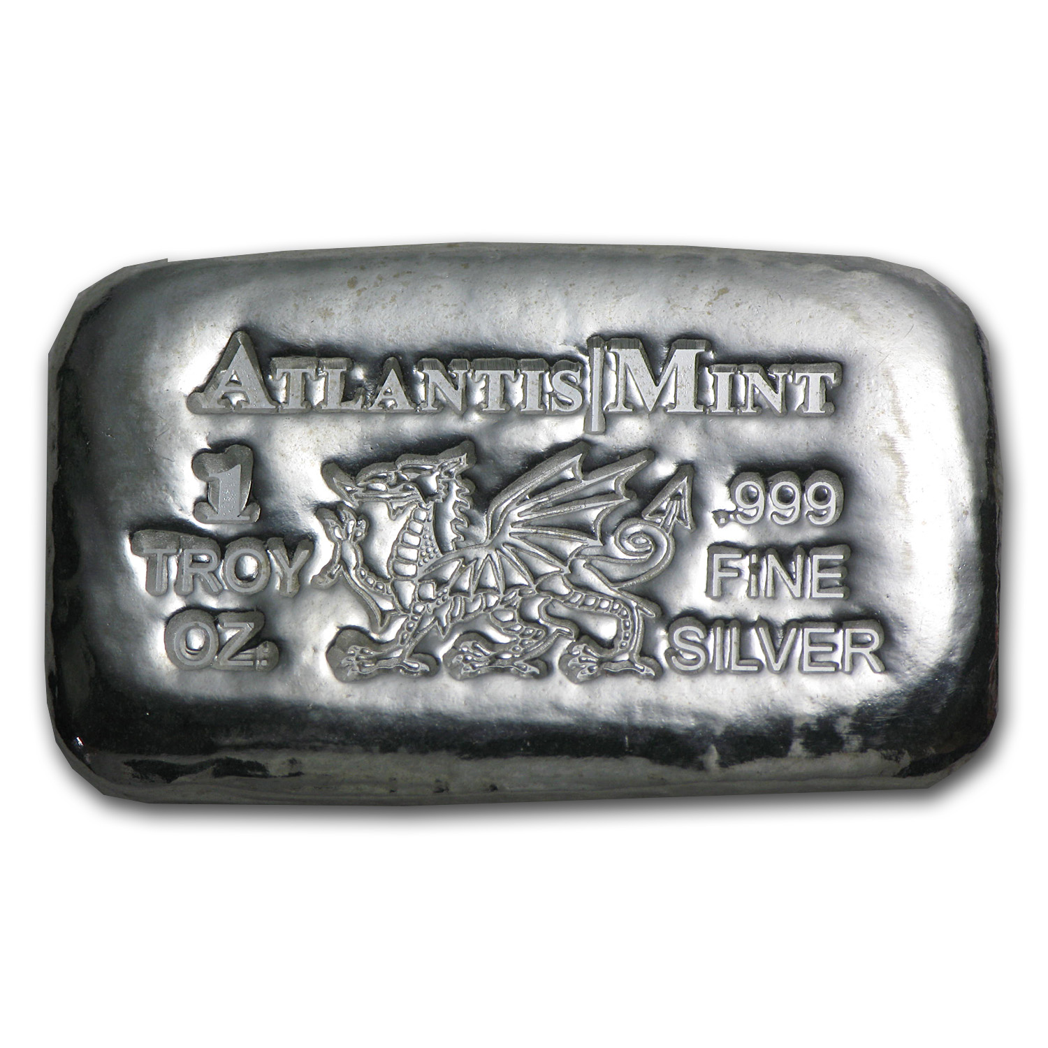 1 oz Silver Bars - Atlantis Mint Dragon