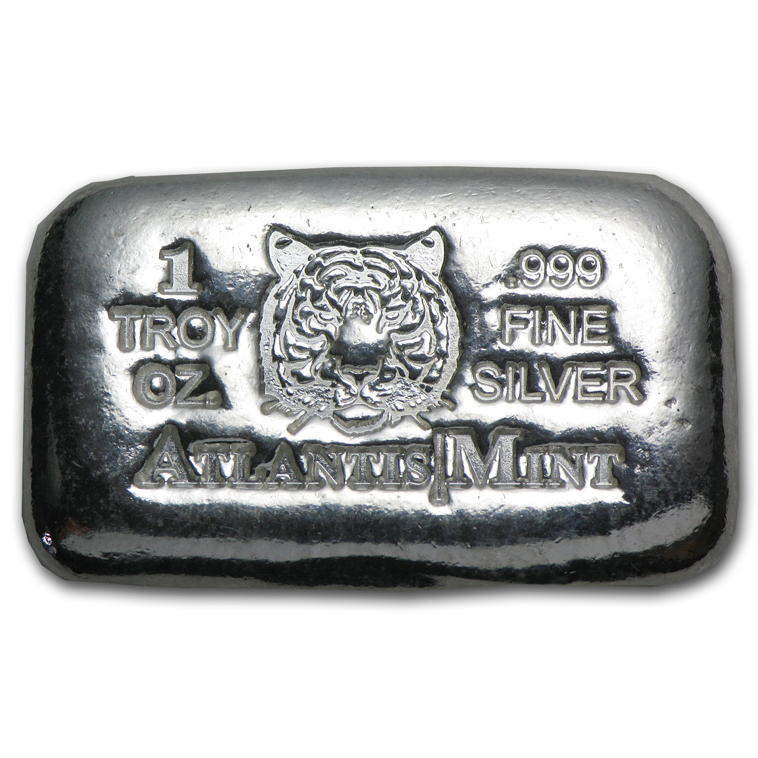 1 oz Silver Bars - Atlantis Mint Tiger