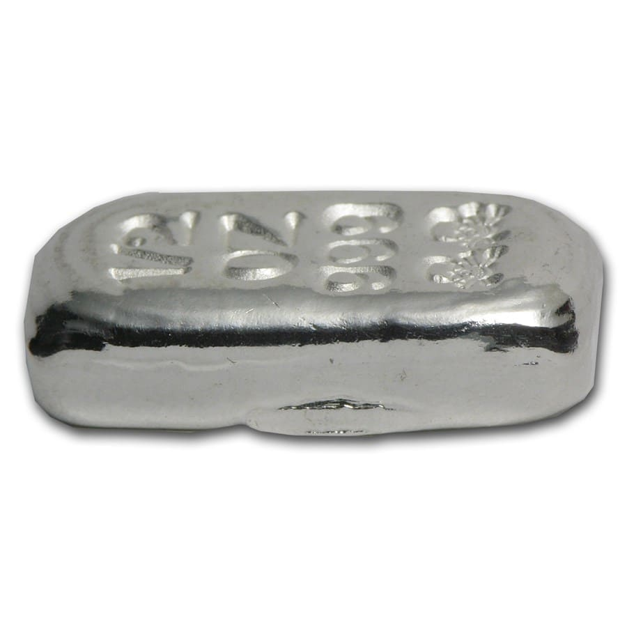 1/2 oz Silver Bar - Skull & Bones (Atlantis Mint)