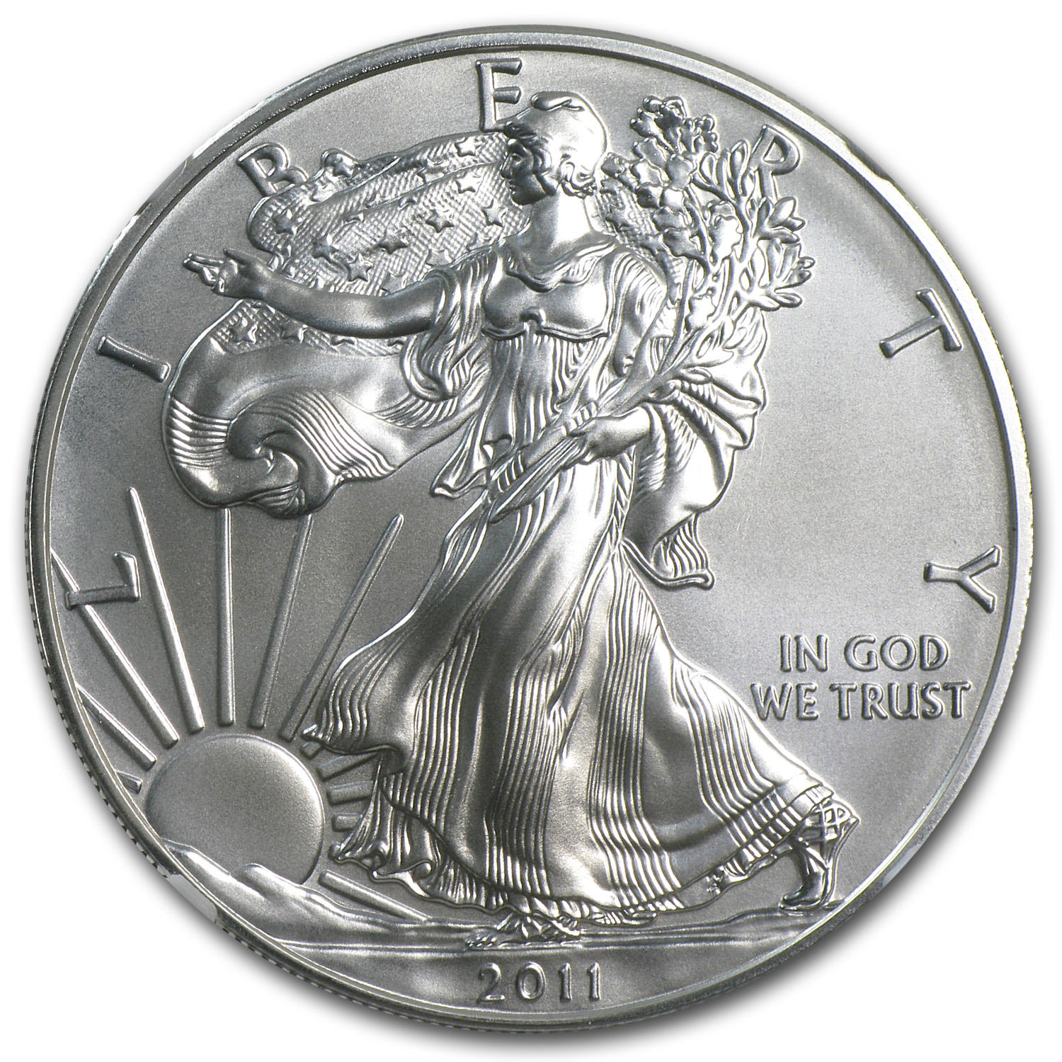 2011-W 1 oz Silver Eagle MS-69 NGC 25th Anniv