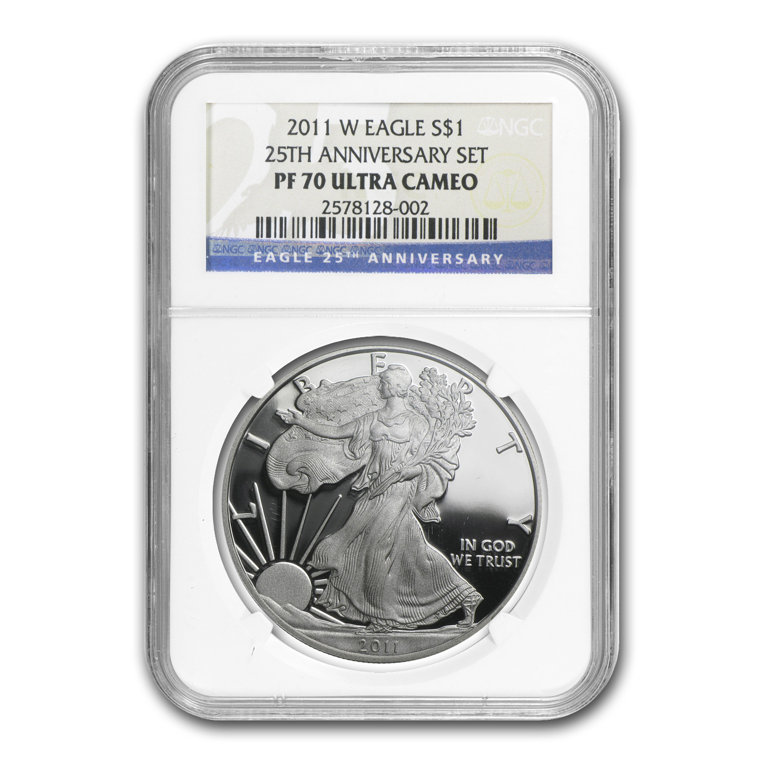 2011-W Proof Silver American Eagle PF-70 NGC (25th Anniv Set)