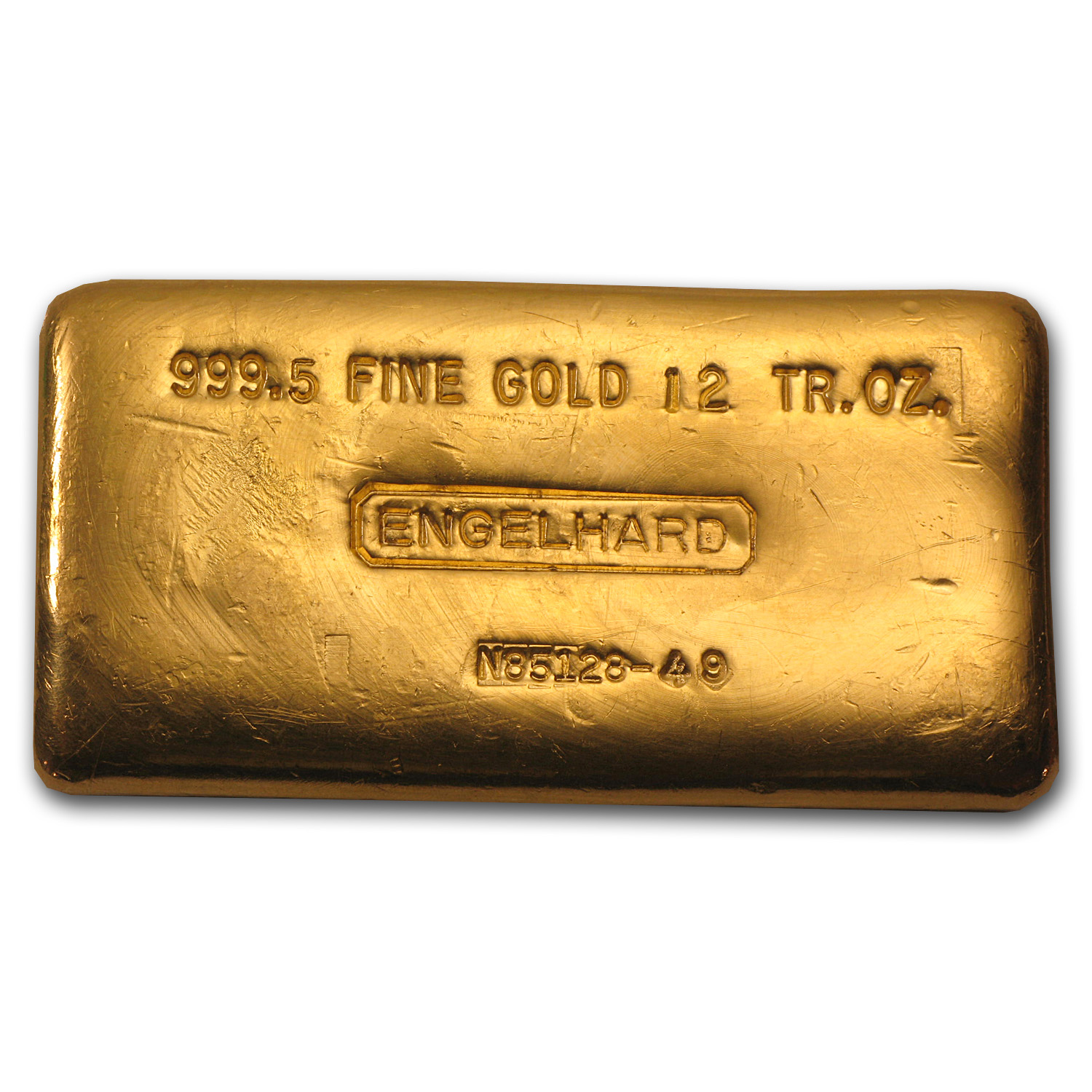 12 oz Gold Bar - Engelhard (Poured, .9995 Fine)