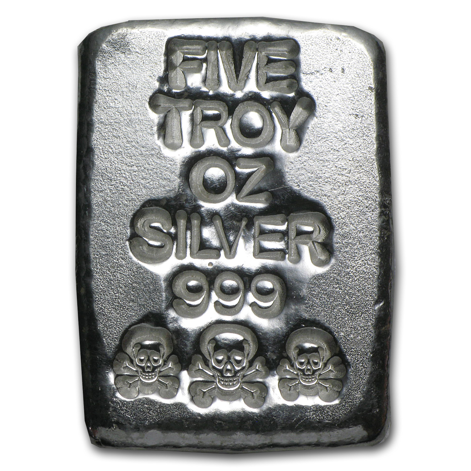 5 oz Silver Bar - Atlantis Mint (Skull & Bones)