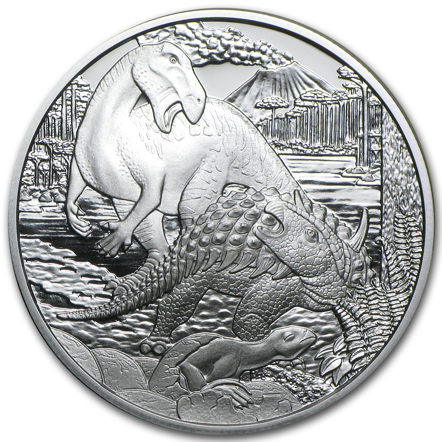 "2014 Cretaceous ""Life On The Ground"" 20 Euro Silver Proof"