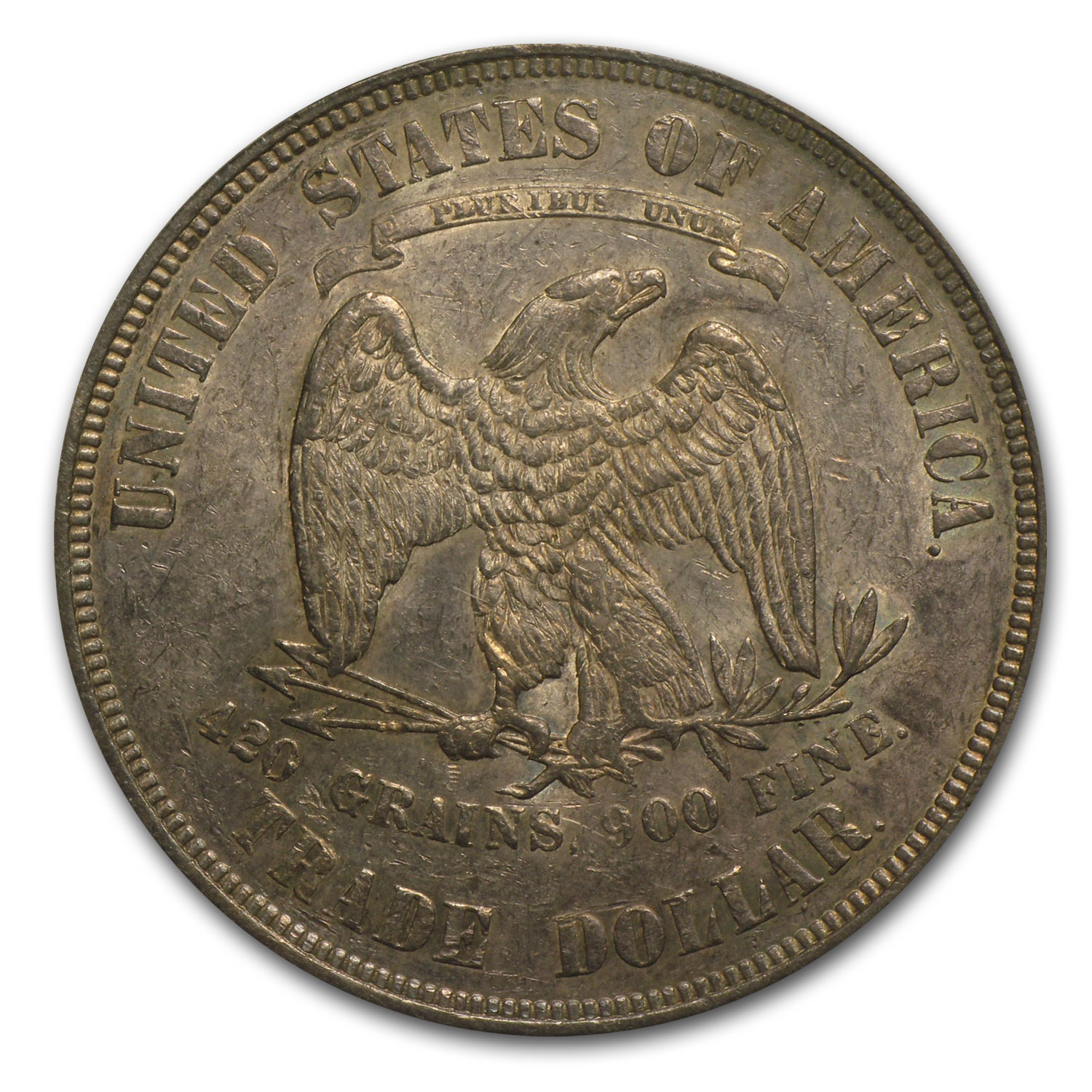 1873 Trade Dollar Almost Uncirculated-55 PCGS