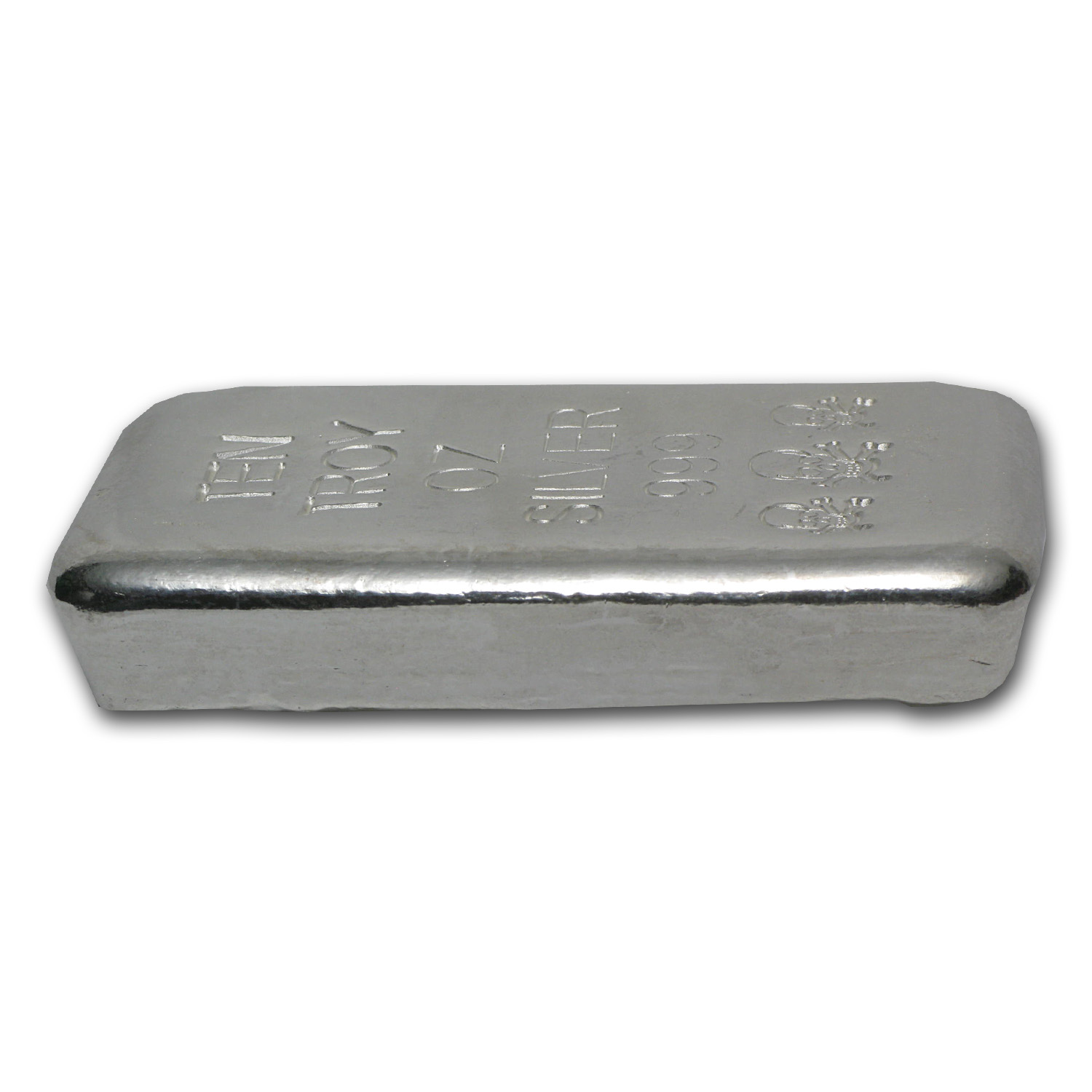 10 oz Silver Bars - Skull & Bones (Atlantis Mint)