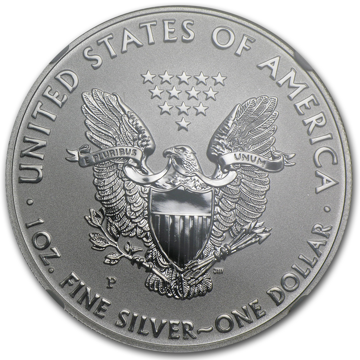 2011-P (Reverse Proof) Silver Eagle PF-69 25th Anniversary
