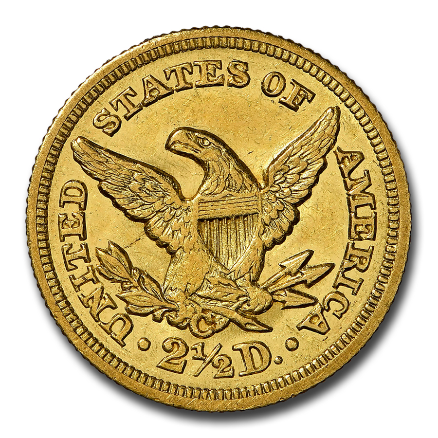 1850-C $2.50 Liberty Gold Quarter Eagle - MS-61 NGC
