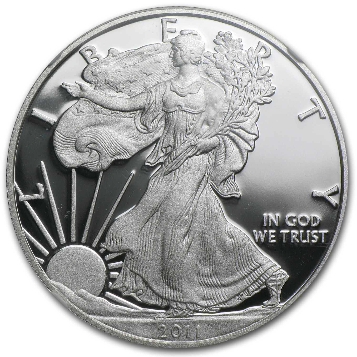 2011-W Proof Silver Eagle 25th Anniversary PF-69 UCAM NGC