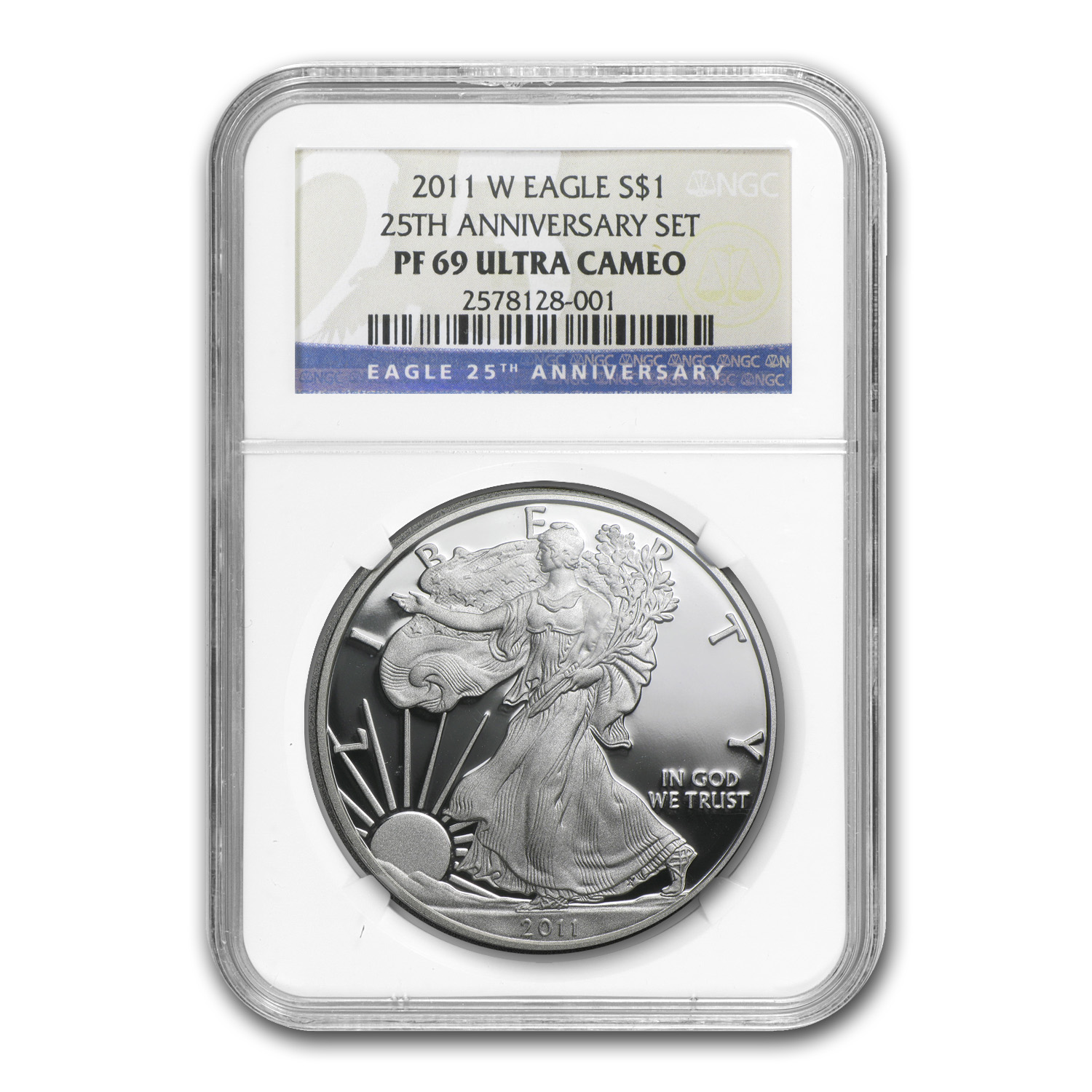 2011-W Proof Silver American Eagle PF-69 NGC (25th Anniv Set)