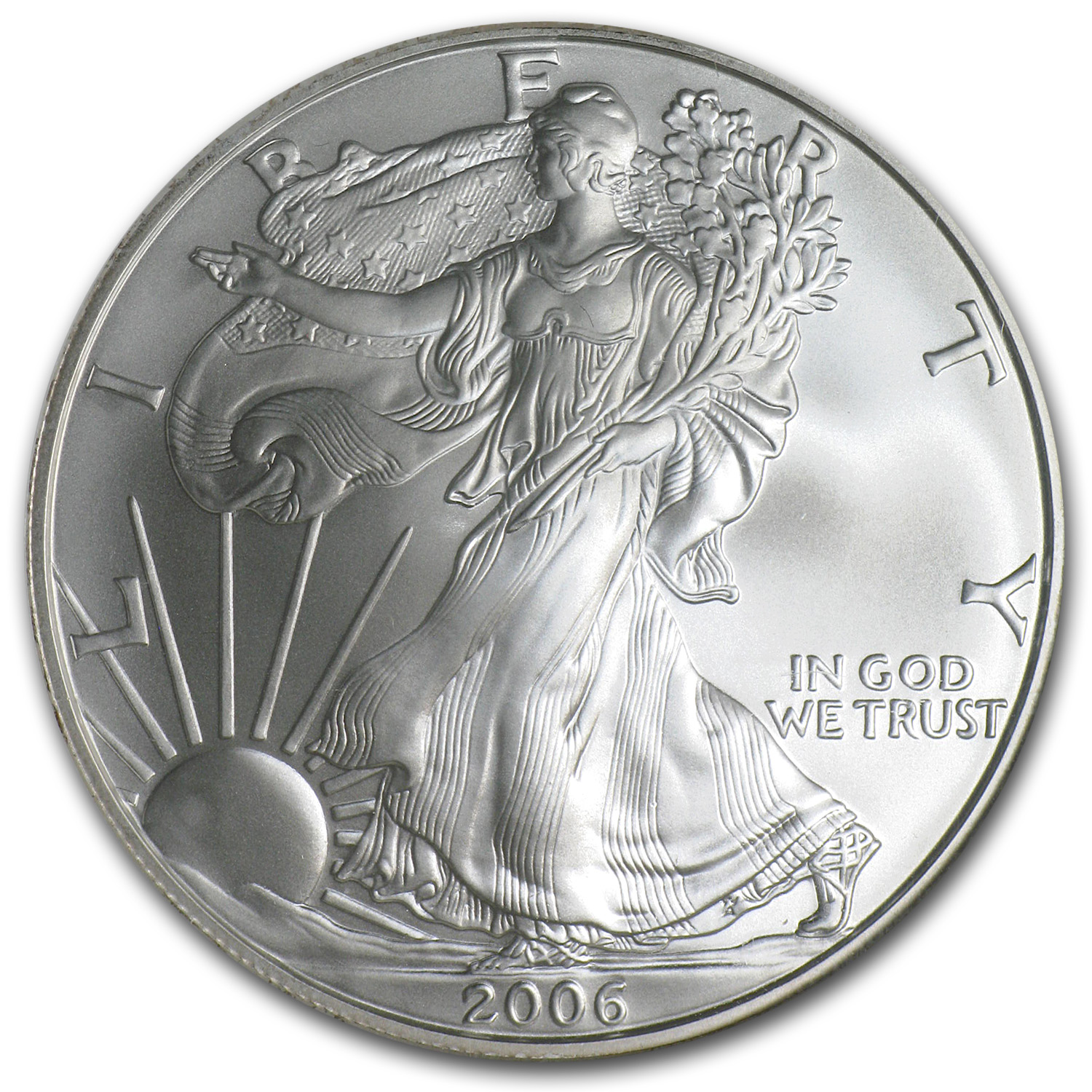 2006-W (Burnished) Silver Eagle MS-70 PCGS 20th Anniv