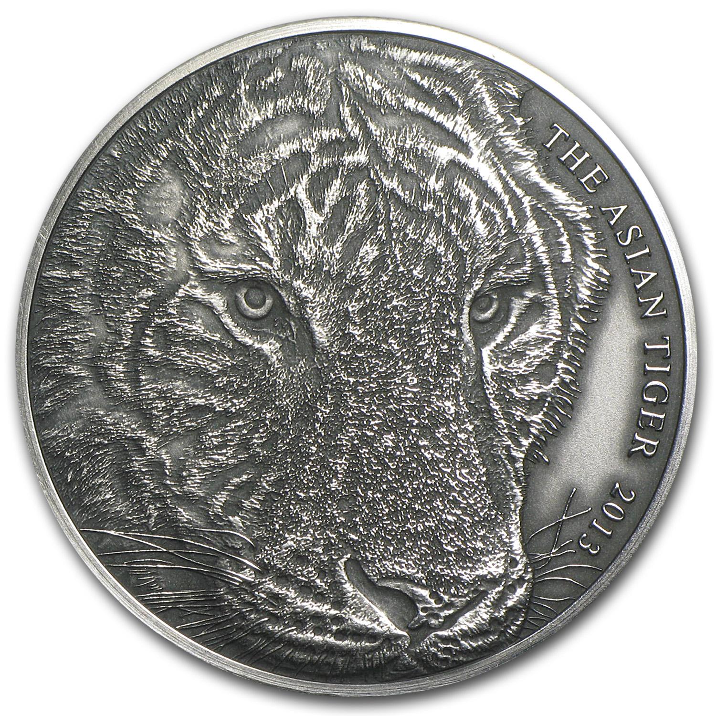 2013 Tokelau 1 Oz Silver Asian Tiger Silver Coins