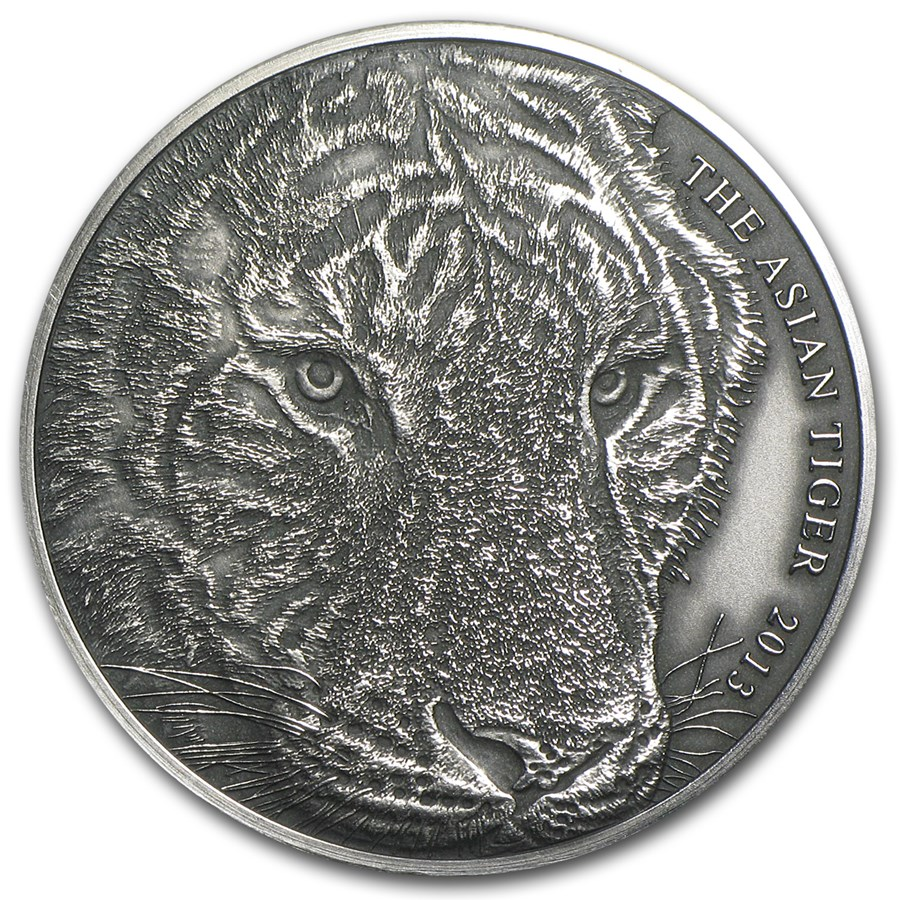 2013 Tokelau 1 Oz Silver Asian Tiger Silver Coins