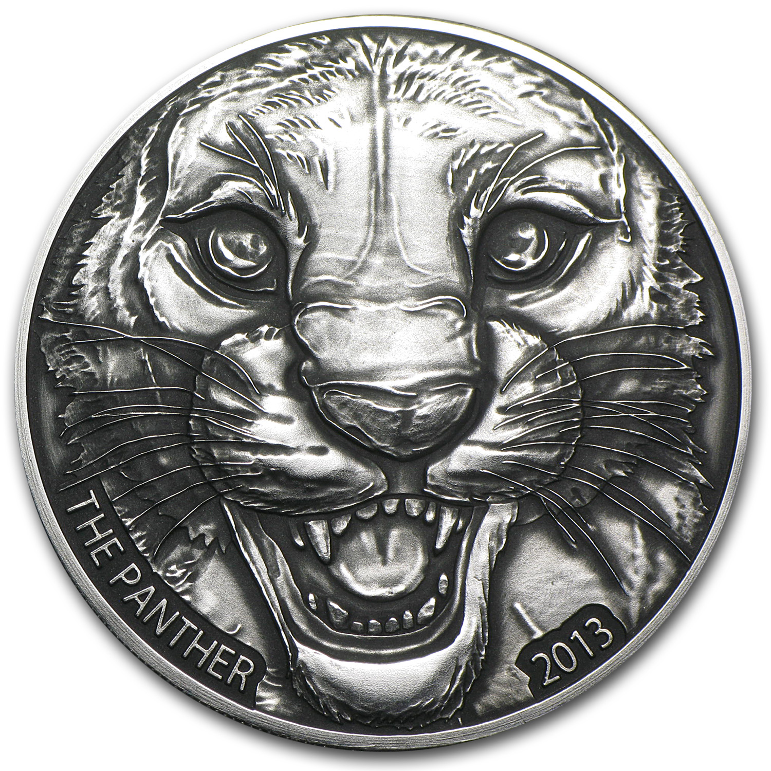 2013 Ivory Coast 1 oz Silver Black Panther