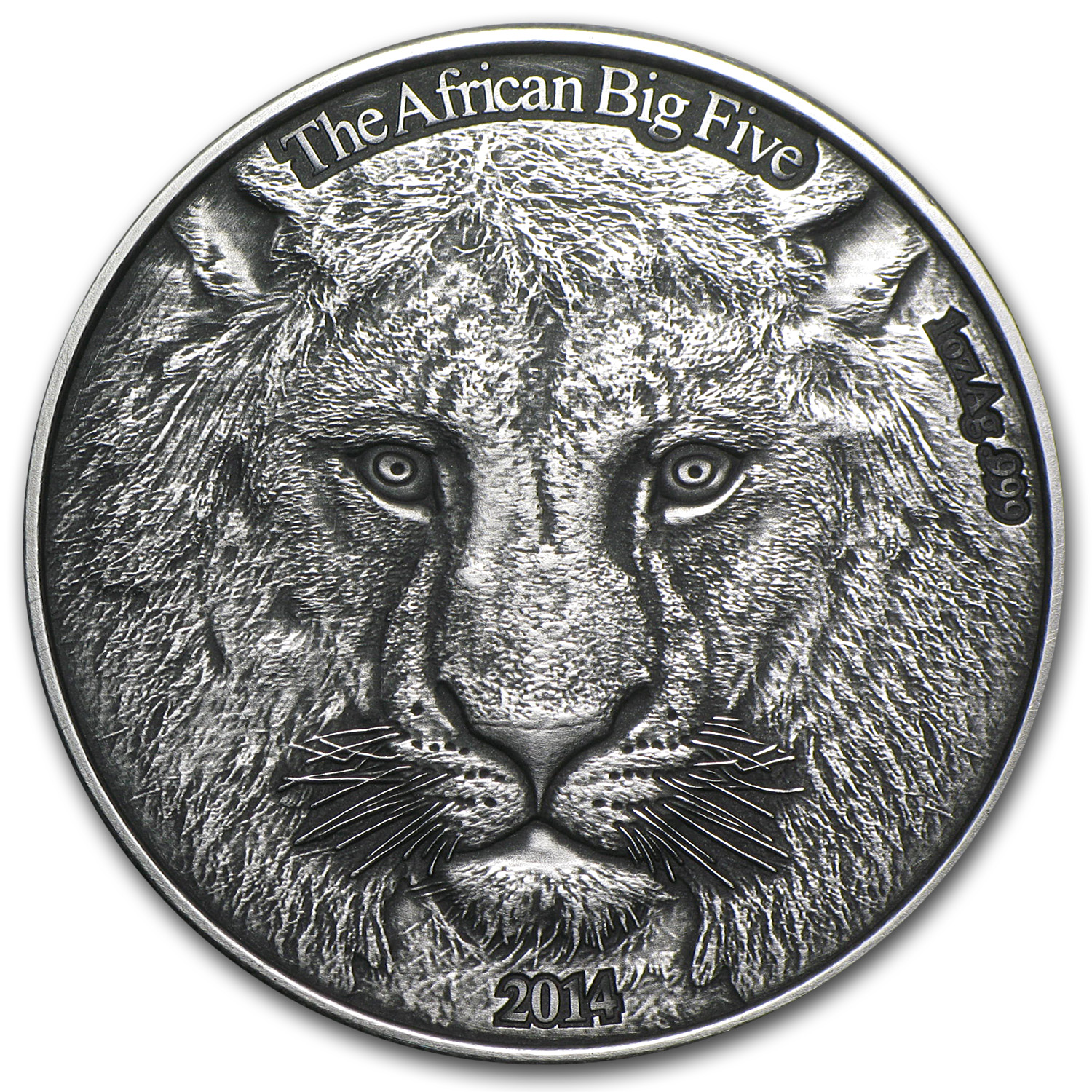 2014 Burkina Faso 1 oz Silver African Big Five The Lion