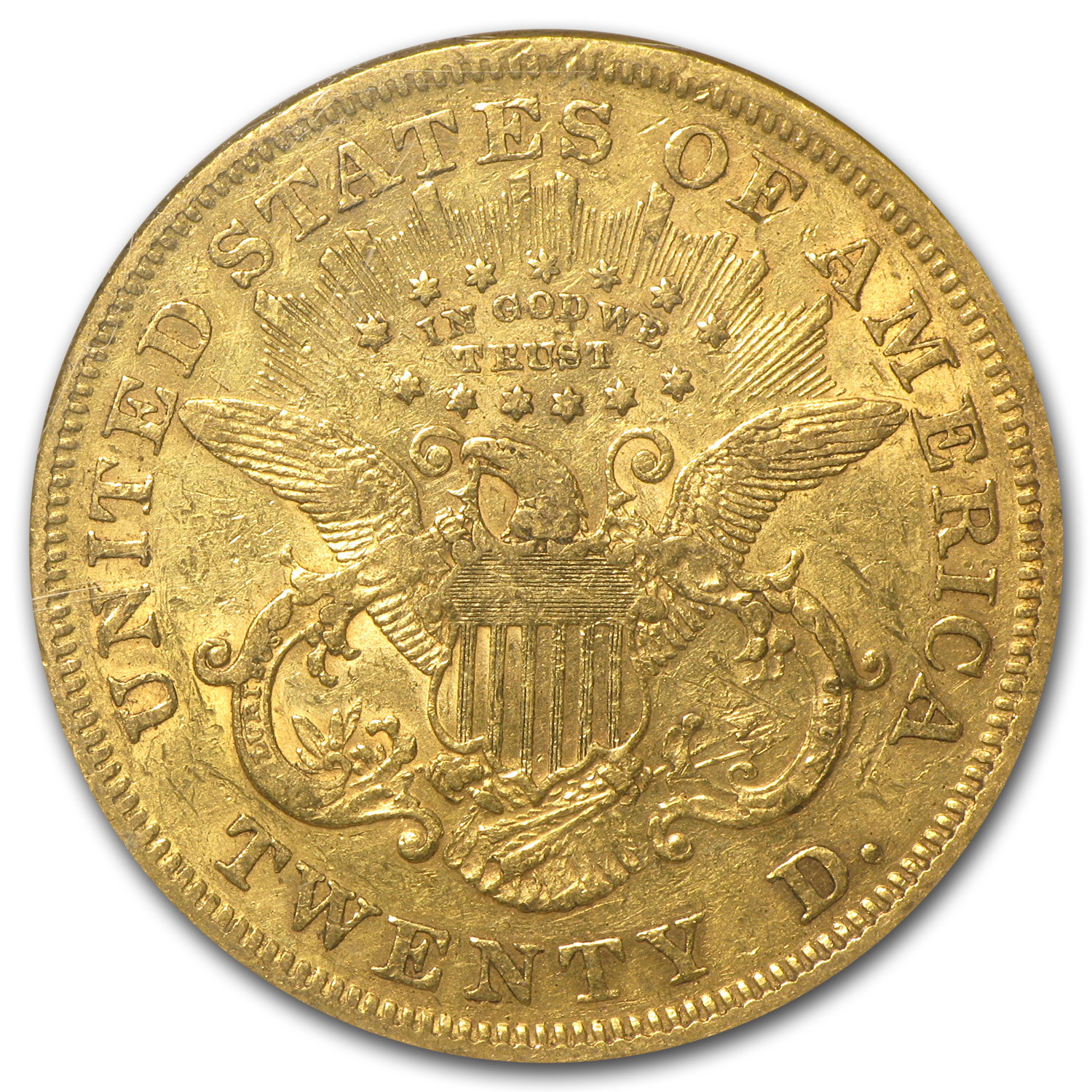 1866 $20 Liberty Gold Double Eagle w/Motto XF-45 NGC
