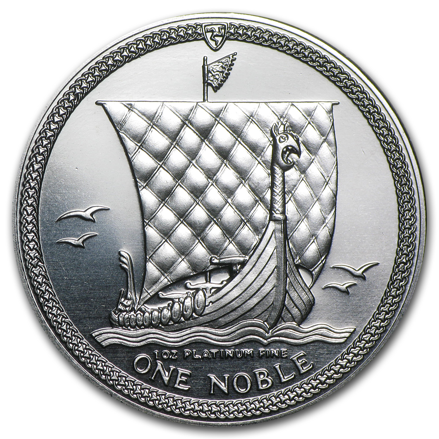 1986 Isle of Man 1 oz Platinum Noble BU