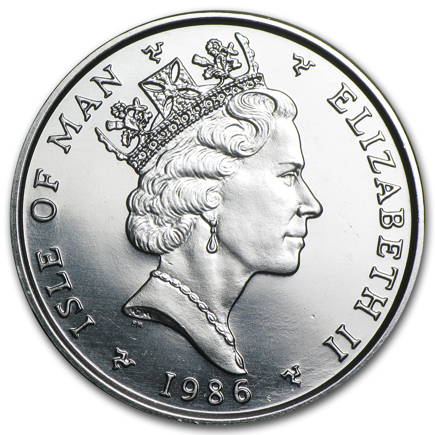 1986 1 oz Isle of Man Platinum Noble (Brilliant Uncirculated)