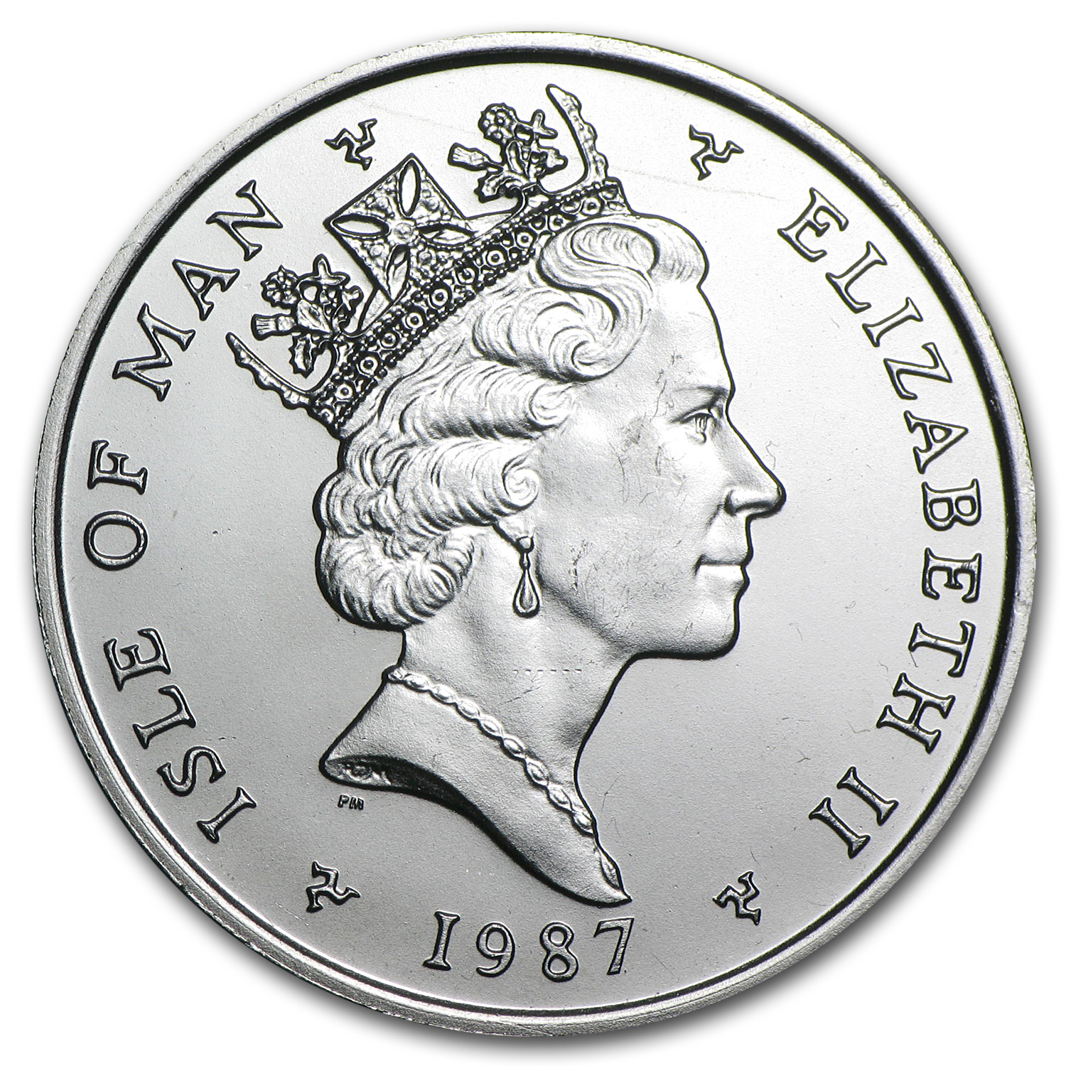 1987 1 oz Isle of Man Platinum Noble (Proof &/or Uncirculated)