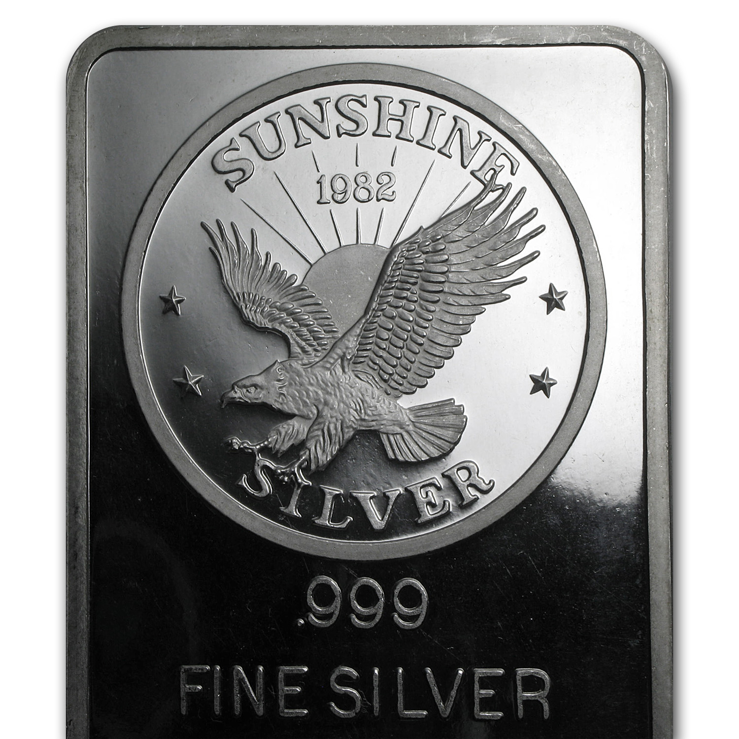 100 oz Silver Bar - Sunshine (1982/Vintage/Pressed)