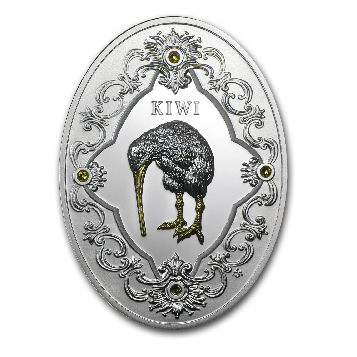 2014 Niue Proof Silver Royal Faberge Gift Kiwi
