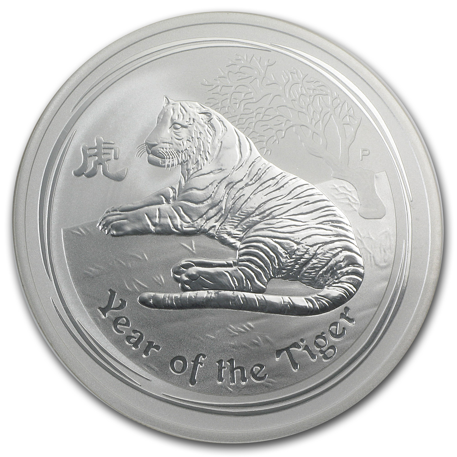 2010 2 oz Silver Year of the Tiger (Series II) MS-69 NGC