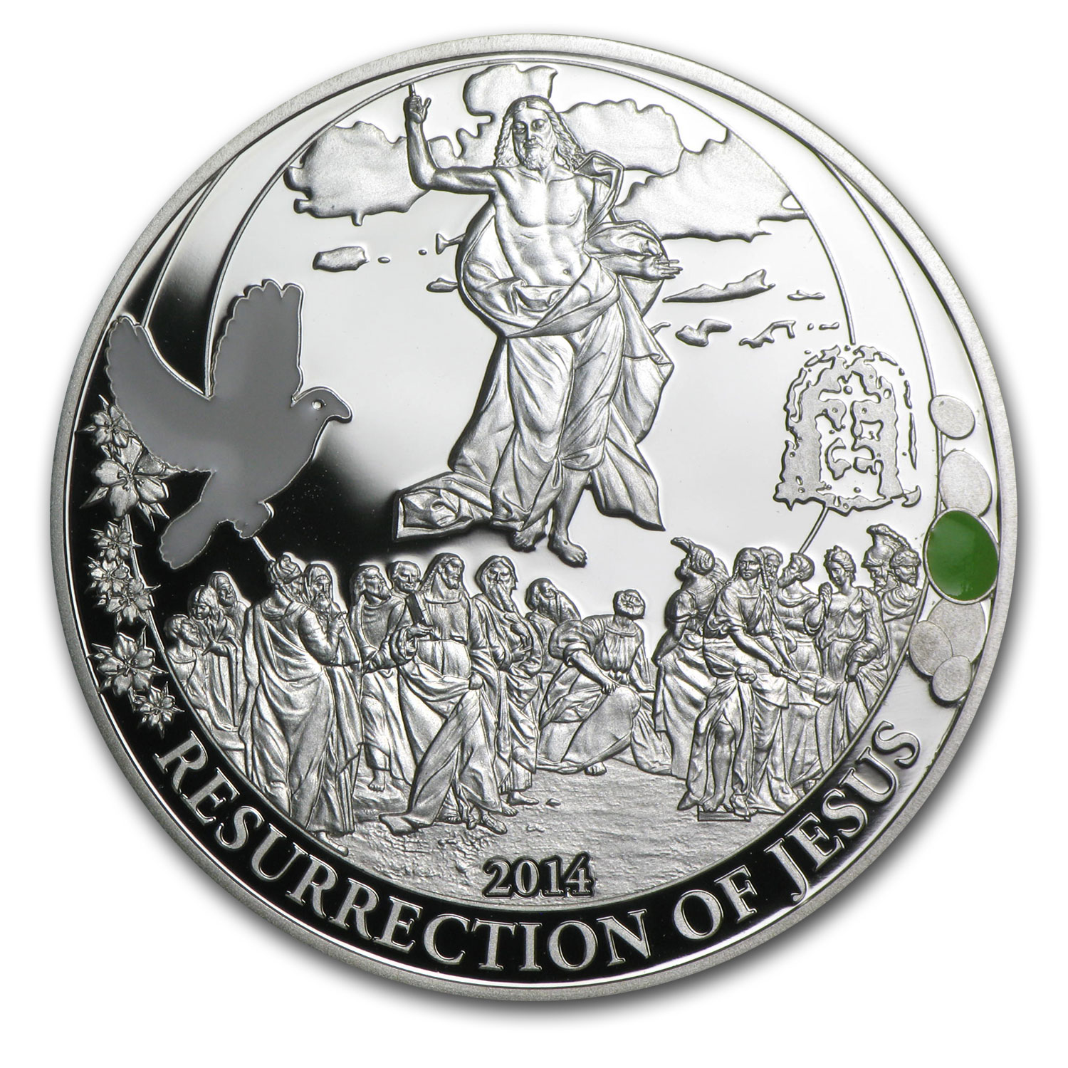 2014 Palau 3-Coin Silver Resurrection of Jesus Egg Proof Set