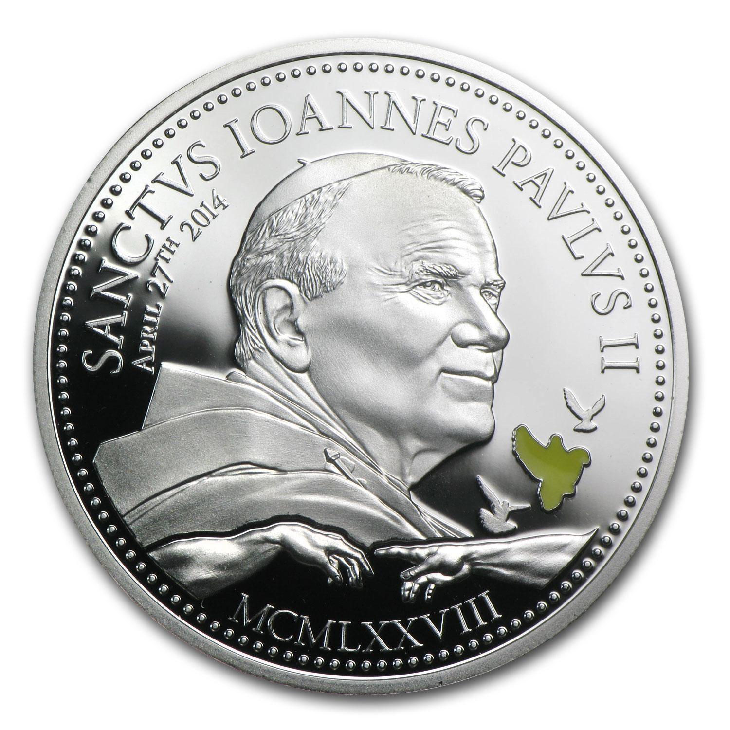 2014 Cook Islands Silver $2 Pope John Paul II
